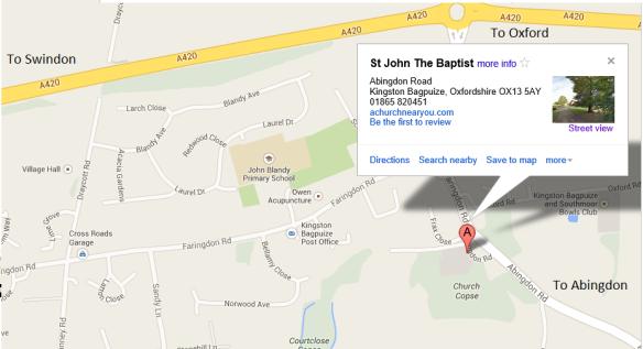 St John Baptist Church Location